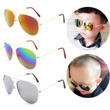 2015 мода пилот детские солнцезащитные очки дизайнер старинные покрытия солнцезащитные очки летний стиль ребенок очки на открытом воздухе óculos Gafas