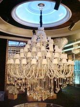 European style El Luxor Hotel project light LARGE PENDANT villa pendant lamp K9 crystal lamp glass tube lamp(China (Mainland))