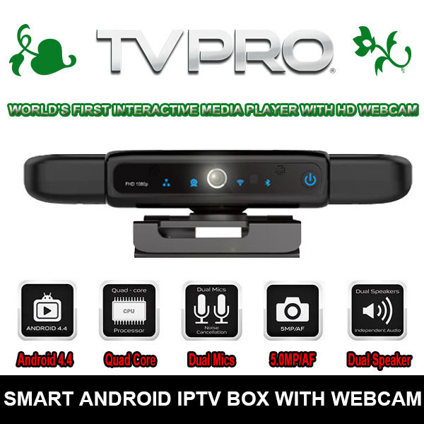 2015 New Arrive Internet TV Receiver Quad Core ANDROID TV BOX with Camera 5.0 Mega Pixels Dual Mics+Speakers For Video Chatting(China (Mainland))