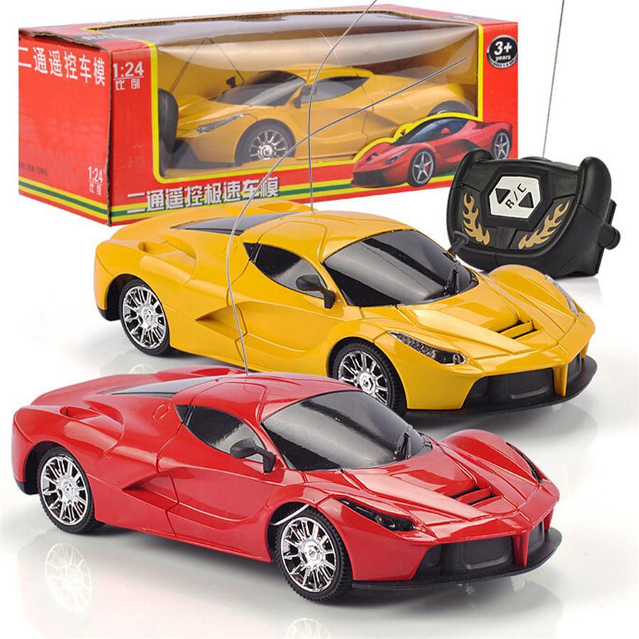Fashion RC Car 1/24 Drift Speed Radio Plastic Remote Control Cars RTR Truck Racing Toy Gift Color Random(China (Mainland))