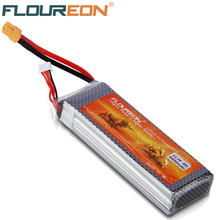 FLOUREON 11.1V 5500mAh 35C Lipo RC Helicopter Battery 3S for RC Control Toys Rechargeable Li-poly Batteries XT60 Connectors(China (Mainland))