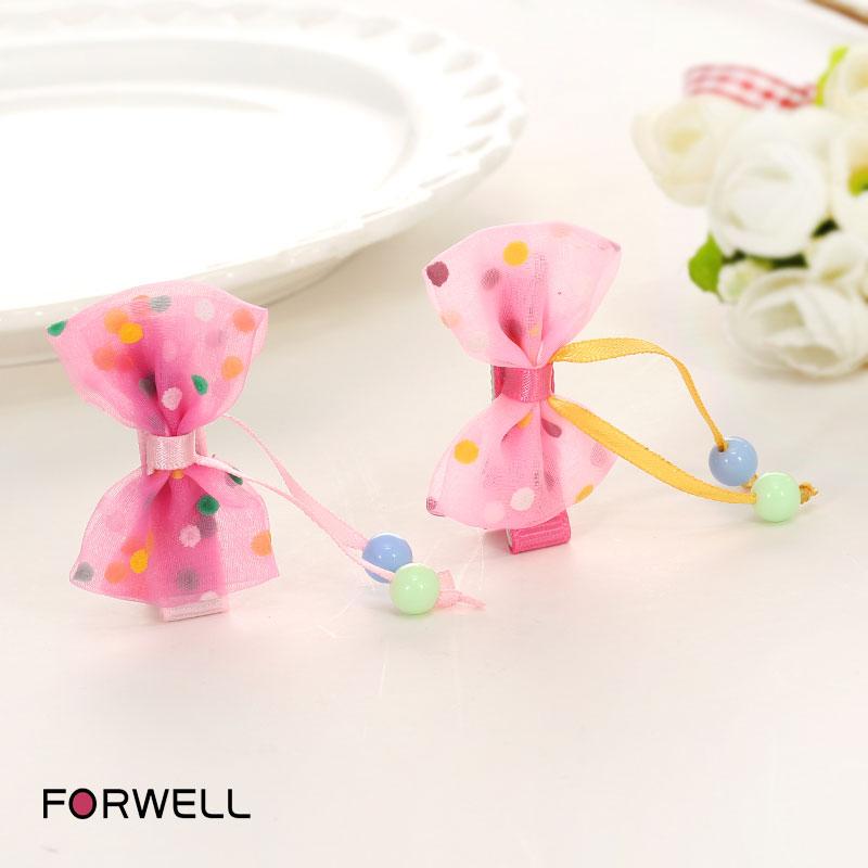3Pcs/lot Children's hair accessories hairpins little girl cute bow hair clips headdress flower fresh baby girls barrettes(China (Mainland))