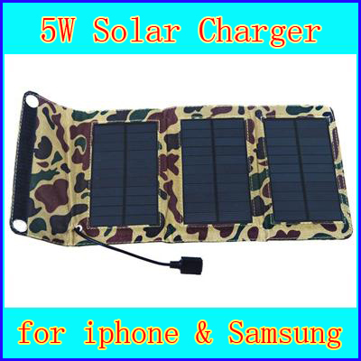 Universal 5.5V 5W Portable Folding Multi-Functional Solar Panel Charger Battery with USB Interface for iPhones MP3 MP4 samsung(China (Mainland))