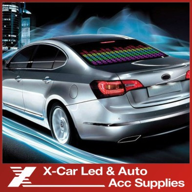 Colourful Flash Car Sticker Music Rhythm LED Sheet Light Lamp Sound Music Activated Equalizer Car Stickers Freeshipping(China (Mainland))