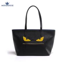 New Luxury Personality Fashion Little Monster bag Tote Ladies Cute Monster Leather Shoulders Bag Ladies Devil Eye Women Handbag(China (Mainland))