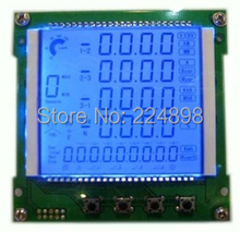 COB Segment LCD Panel Module HT1626 Drive IC Blue LED Backlight Meter LCD Module(China (Mainland))
