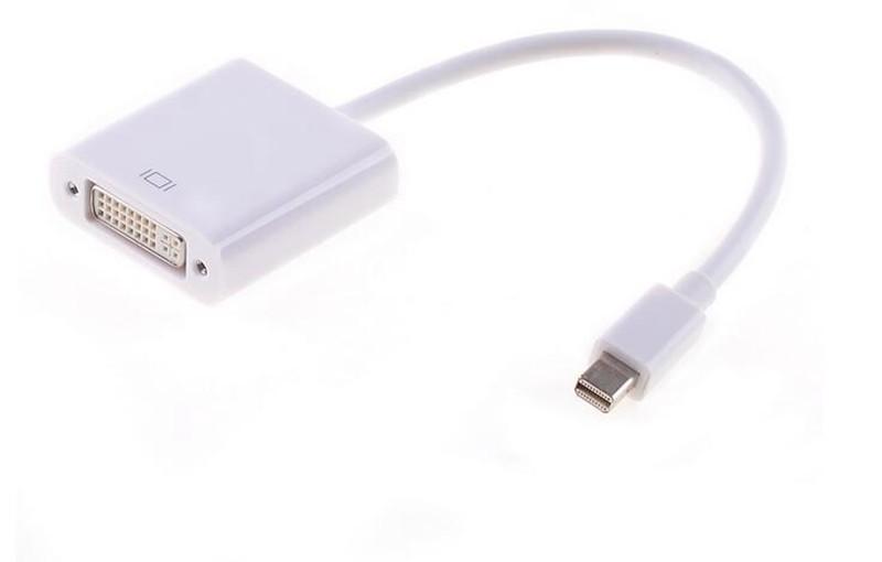 400pcs/lot *Thunderbolt Mini DisplayPort Mini Display Port DP to DVI Adapter Converter Cable for apple Macbook Pro Air(China (Mainland))
