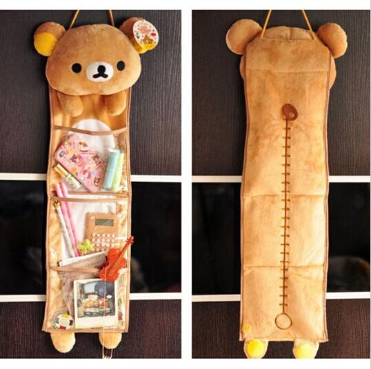 1 шт. супер мило мягкий плюш Rilakkuma долго висит сумка для хранения игрушка, Каваи висит сумка, Творческое начало / семья декора подарок для девочек