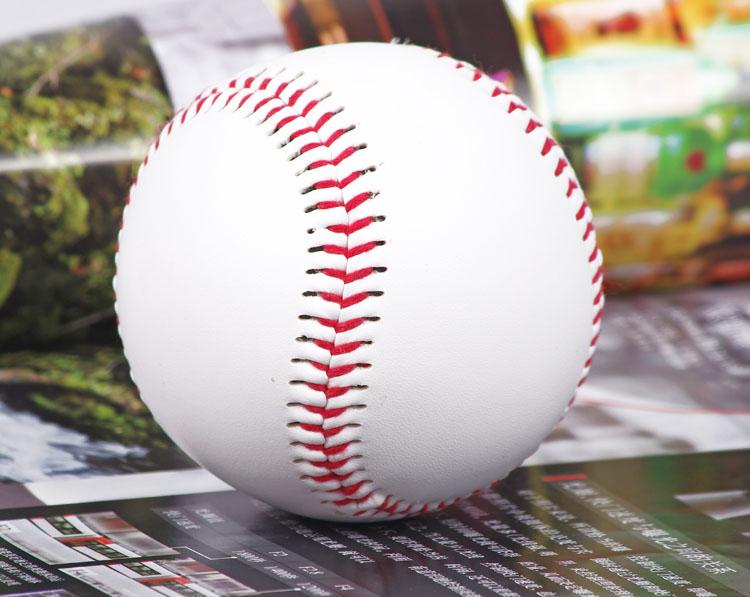 "FREE SHIPPING 1 Piece 9"" New White Base Ball Baseball Practice Trainning PVC Softball/Hardball hand sewing Sport Team Game .(China (Mainland))"