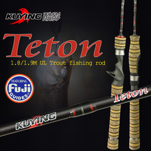 KUYING Teton 1.9m Ultralight Casting Spinning UL Lure Fishing Rod with FUJI parts fishing pole for Opsariichthys free shipping(China (Mainland))