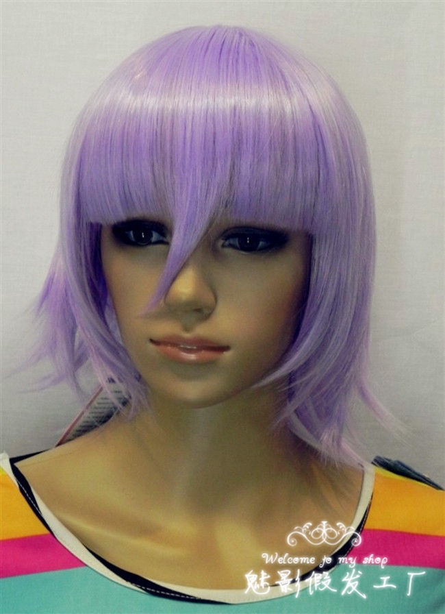 shun &Wholesale&>> cosplay Light Purple Lavender wig(China (Mainland))