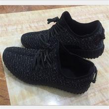 2016 yeezy shoes Men Women Casual Shoes Fashion Breathable man Shoes Grey Black Lace-up Flat Shoes Plus Size 39-46 No Logo(China (Mainland))