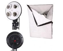 1 to 4 Socket Head 50 x 70cm 27*27 Soft box Photo Video Studio Light E27 CFL Diffuser Photo Studio Softbox