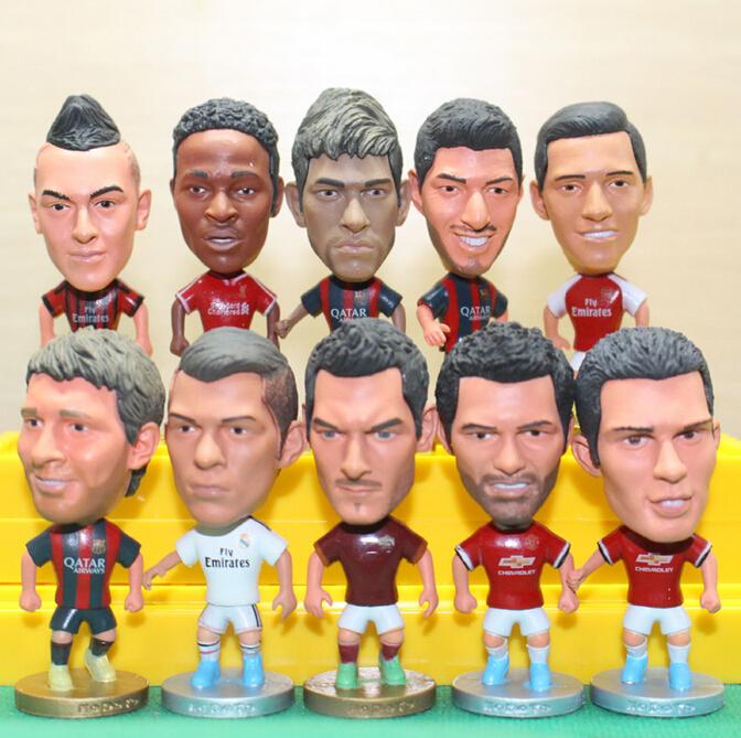 30pcs Mix Order KODOTO Soccer Football Basketball Star Doll Dolls Ronaldo Messi James Neymar Xavi Oezil Kaka MOURINHO BALE RAMOS(China (Mainland))
