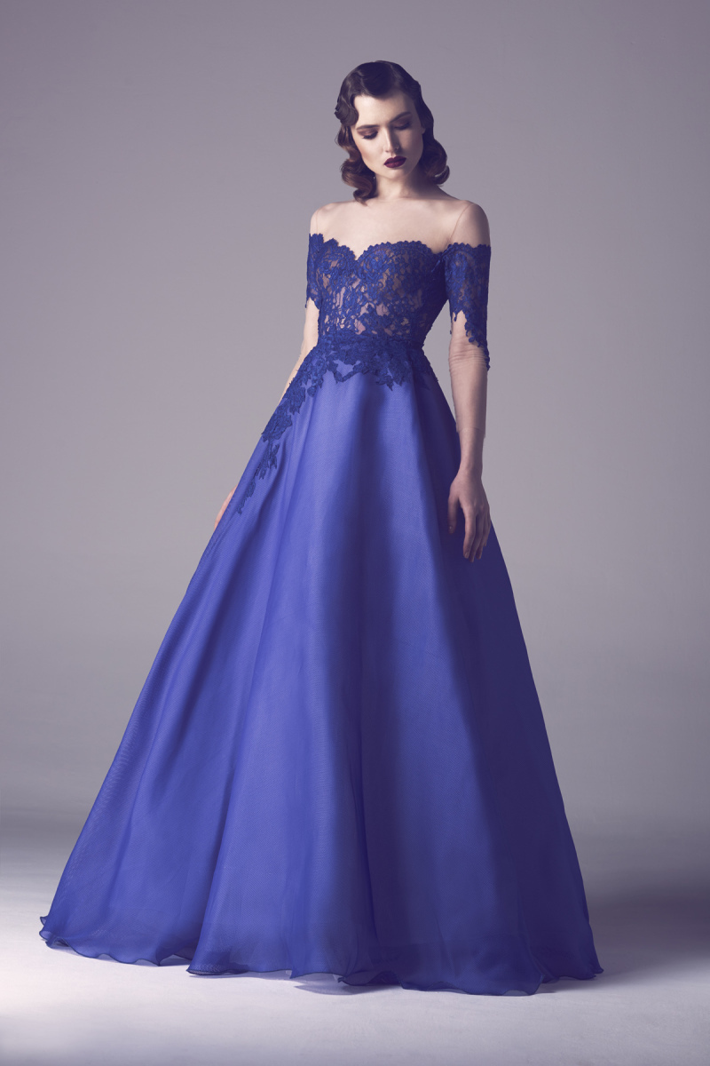 Royal-blue-boat-neck-lace-evening-dresse