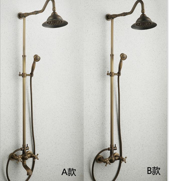 bath hardware set Antique european-style bathroom shower shower pure copper suits(China (Mainland))