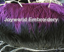23cm long Bright Rayon trimming Tassel fringe loop bottom lace Gradient color Purple black 23cm(China (Mainland))