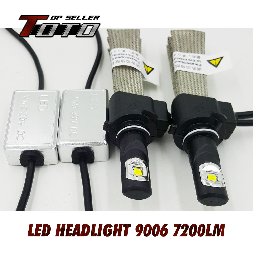 2x 9006 HB4 60W/Set 7200LM CREE ETI NLW LED Car White Fog DRL Driving Headlight Conversion Kit Cooling Belts Better than Fans