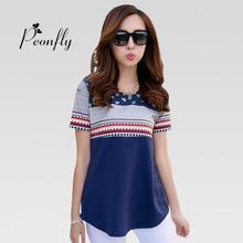 Buy Hot Sale Summer T Shirt Women 2016 Short Sleeve Print Tshirt Female Fashion T-shirts Women Tops Plus Size Tee Shirt Femme for $9.79 in AliExpress store