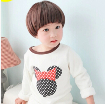 Natural Parrucca Peruca Masculina Kids BoB Wig Straight Short Black/Brown Pixie Wigs Is A Pixie Baby Good Boy Wig Pastel Wigs(China (Mainland))