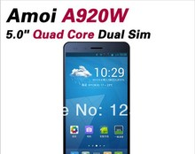 DHL Fast Delivery Amoi A920W 5 Inch MTK6589T Quad Core Android 4.2 IPS 1920X1080 2GB/32GB 13MP Dual Sim WCDMA 3G GSM PHONE(China (Mainland))
