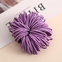 AIKELINA 100 шт./лот 3 см милые девушки хвост держатель волос аксессуары для волос тонкой эластичной резинкой для детей Цветные волосы связей(China)