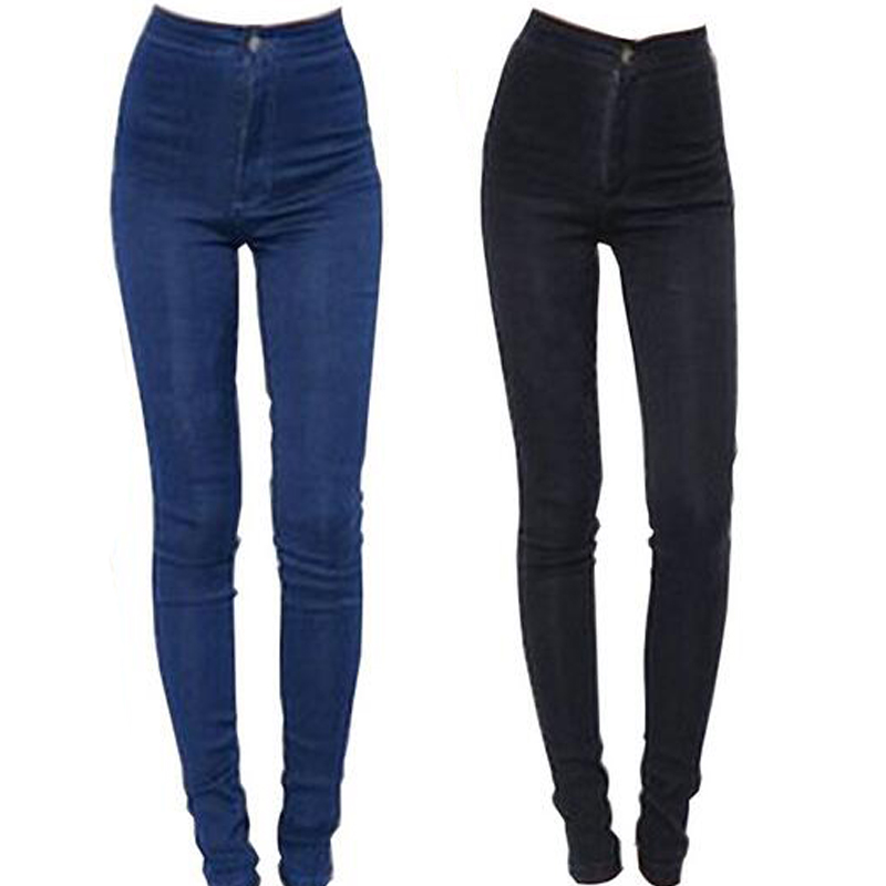 2014 New Fashion Women Sexy Slim Hip Pencil Pants High Waist Tootsies Stretch Jeans Skinny Pants Trousers Fit Lady jeans