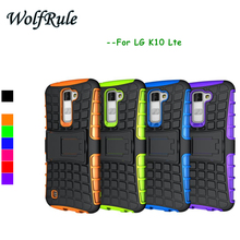 Case For LG K10 Cover Shockproof Silicone & Hard Plastic Case For LG K10 Lte K430DS K410 M2 Cell Phone Holder Stand Cover #<(China (Mainland))