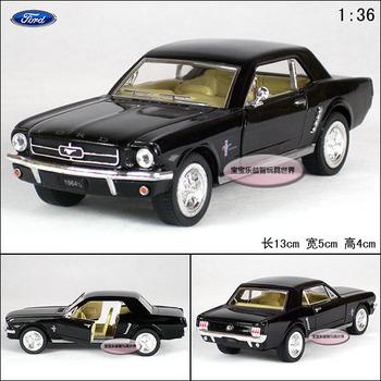 Soft world FORD kinsmart 1964 mustang black alloy car models