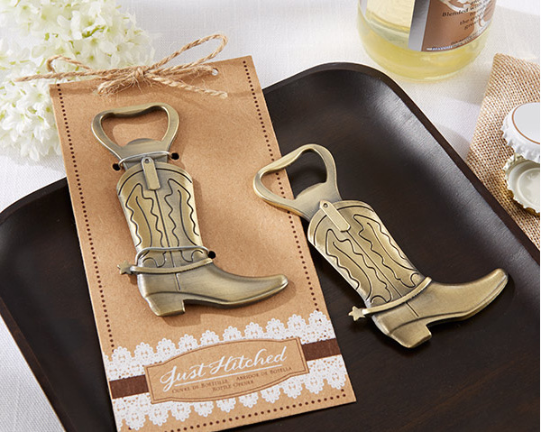"100pcs/LOT NEW ARRIVAL High Quality Western Wedding Party Favors ""Just Hitched"" Cowboy Boot Bottle Opener FREE SHIPPING(China (Mainland))"