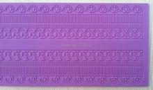 CT404 400*170 mm 100% Food-Grade Silicone Baking Mat, Cake Fondant Decorating Tools, Silicone Mat To Create Sugar Laces(China (Mainland))