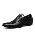 Classic Men Dress Shoes Genuine Leather texture Black Casual Business Shoes wedding Flats Handsome Pointed Toe