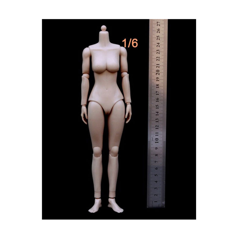"12"" Action Figure Bodies KUMIK Model 1:6 Figure Medium Breast Asia Female Body (Rubber Layer) Doll(China (Mainland))"