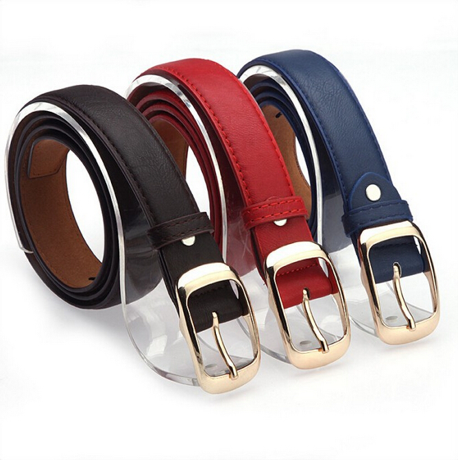 2016 Women Fashion Belts Cinturones Mujer Ladies Faux Leather Metal Buckle Straps Girls Fashion Accessories(China (Mainland))