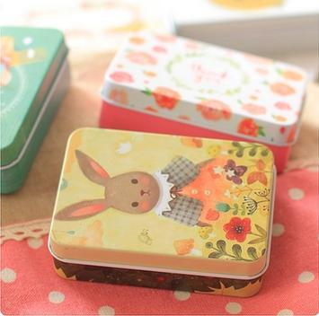 8.5*6.2CM Retro card candy jewelry container tin sheet storage box cigarette case 6pcs/lots mix color free shipping(China (Mainland))