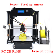 2016 Upgraded Quality High Precision Reprap Prusa i3 DIY 3d Printer kit with 20M Filament 8GB SD card and LCD for Free