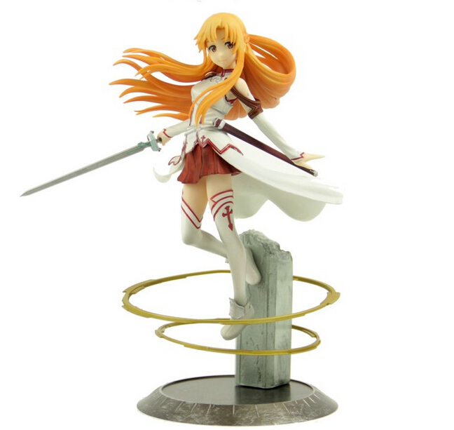 22cm Sword Art Online Asuna Action Figures PVC Collection toys christmas gift brinquedos Retail box