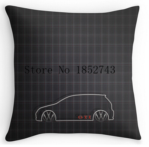 Cool Art Design GTI font b Tartan b font Pillow cases two sides for 12 14
