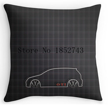 "Cool Art Design GTI Tartan Pillow cases(two sides) for 12 ""14""16""18"" 20""24"" inch free shipping"