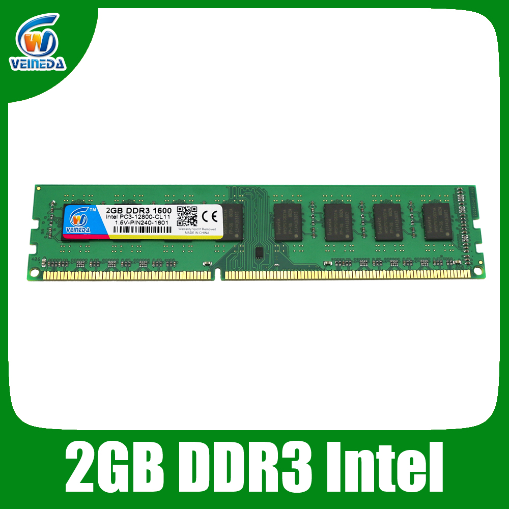 Brand New ddr3 ram Memory ddr3 2gb compatible Intel AMD Desktop for PC3-12800 ddr3 1600 Lifetime Warranty(China (Mainland))