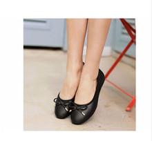 ZHENGPIN phổ biến Mocassin Femme thoải mái sự nghiệp nữ Flat ngọt Ballerina đế giày Rất mềm giày đế bằng n(China)