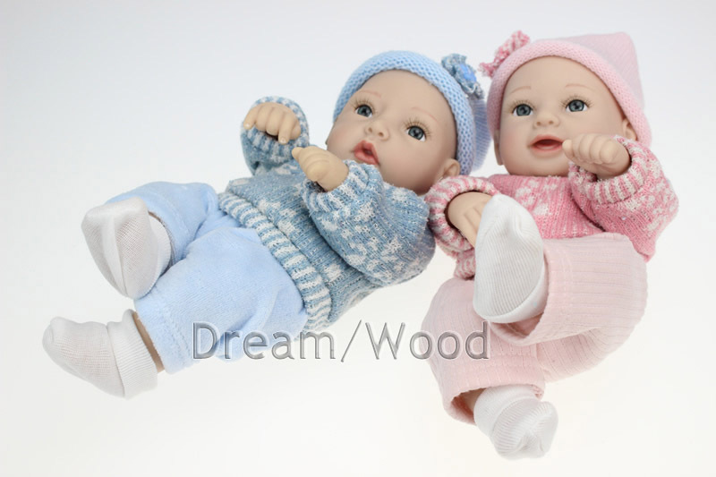 28cm Simulation mini handmade baby doll full silicone baby doll holiday gifts<br><br>Aliexpress