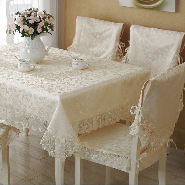 Dining Table Cloth Quality Lace Table Runner Chair Cover Cushion