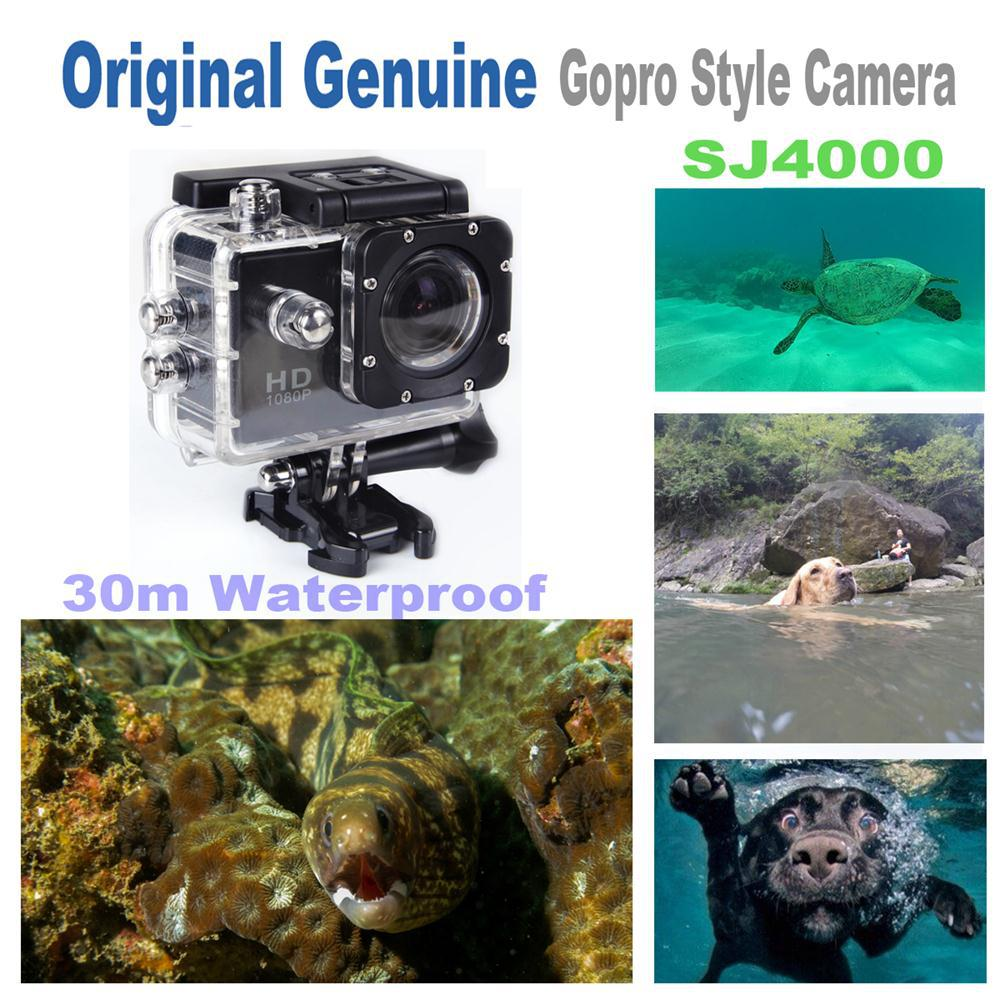 Get free Charger+Battery,Gopro Style Action Camera Original SJ4000 1080p Full-HD 30m waterproof 170 Wide Angle Go Pro Camera(China (Mainland))