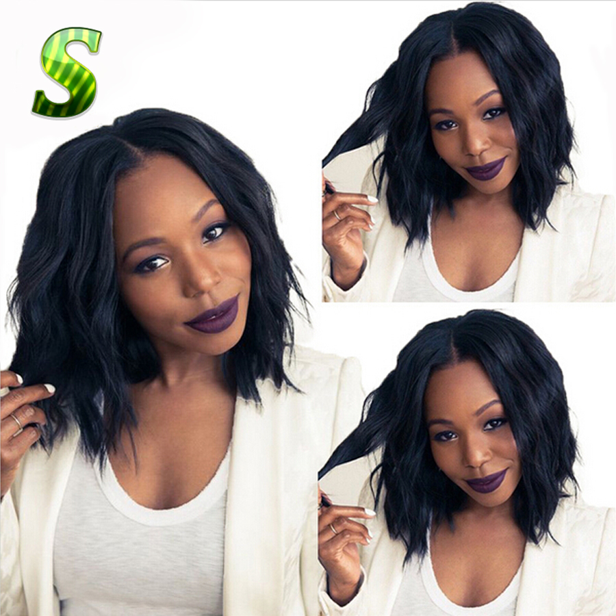 Гаджет  Human Hair Short Wigs For Black Women Brazilian Virgin Hair Lace Front Wigs Glueless Full Lace Human Hair Wigs With Baby Hair None Волосы и аксессуары
