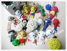 Halloween Products Ethnic voodoo dolls Kid's Gift Keychain Keyring 3 inch Dolls 150p/lot(China (Mainland))