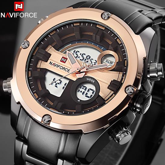 NAVIFORCE Top Luxury Brand Men Military Waterproof LED Sports Watches Men's Digital Clock Male Wrist Watch relogio masculino(China (Mainland))