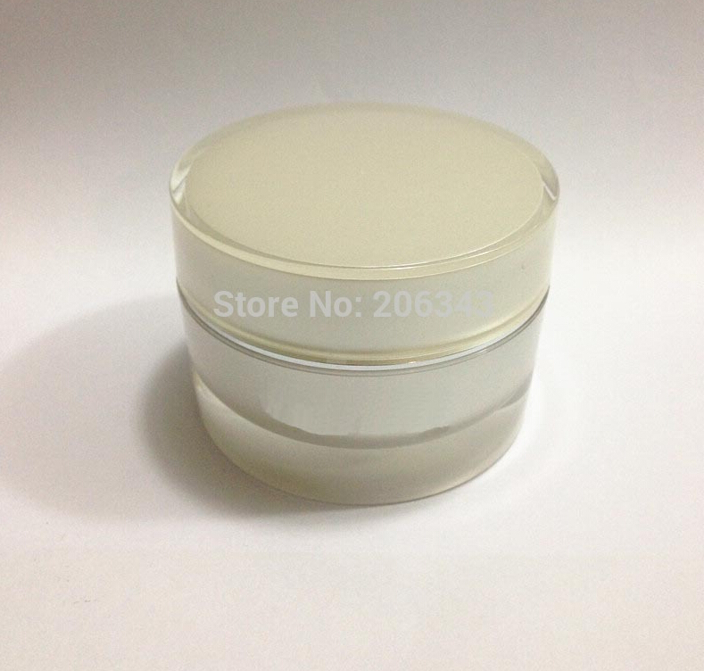 30G pearl white cylinder-shape cream bottle with silver line ,cosmetic container,,cream jar,Cosmetic Jar,Cosmetic Packaging<br><br>Aliexpress