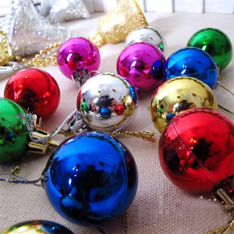 New Fashion Christmas Tree Xmas Balls Decorations Baubles Party Wedding Holiday Ornament Gift 12Pcs 3cm(China (Mainland))