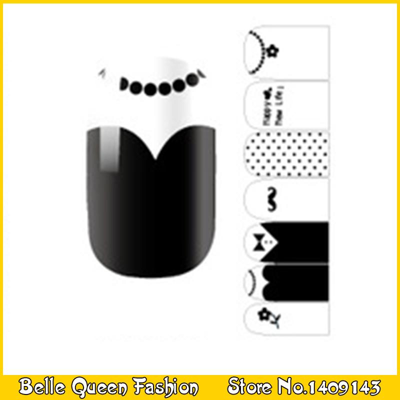 1SHEET Full Cover Nail Polish Stickers Self-Adhesive Nail Decals For Nails Decorations Tools K1029(China (Mainland))